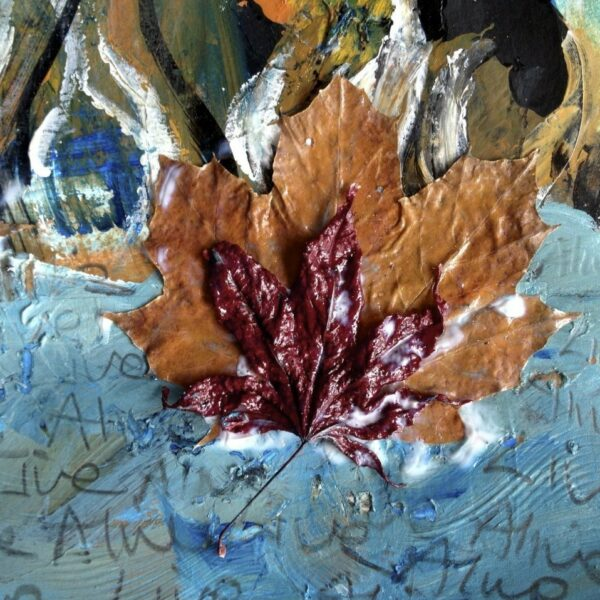Leaf painting art therapy