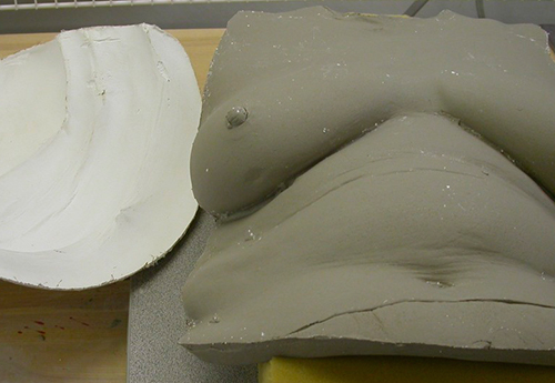 Clay Sculpture from a Plaster cast for the Beautiful Women Project