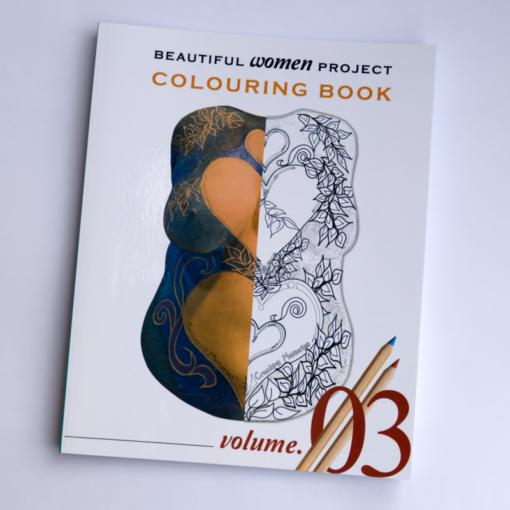 Volume 3 of the Beautiful Women Project colouring e-books